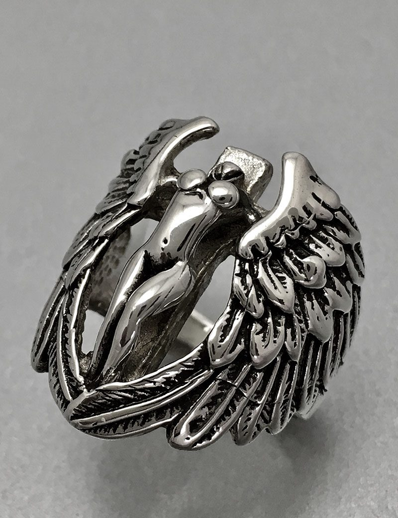 silver angel by rings michael designs