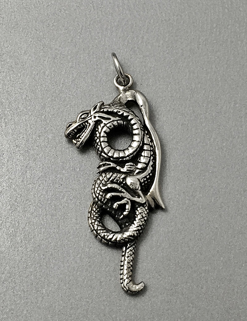 Curled dragon pendant jewellery house of evelyn piper curled dragon pendant aloadofball Choice Image
